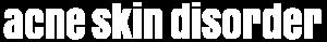 Acne Skin Disorder Logo White
